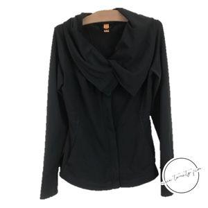 Lucy Workout Hatha Cowl Sweatshirt Jacket Black